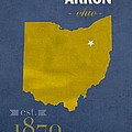 Akron Zips Ohio College Town State Map Poster Series No 007 by Design Turnpike