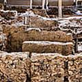 Akrotiri Archaeological Site In Santorini by David Smith