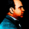 Al Capone C28169 - Black - Painterly - Text by Wingsdomain Art and Photography