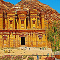 Al-dayr Or The Monastery In Petra-jordan  by Ruth Hager
