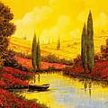 al tramonto sul torrente by Guido Borelli