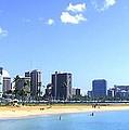 Ala Moana Beach Park And Diamond Head by Mary Deal