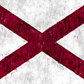 Alabama Flag by World Art Prints And Designs