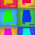 Alabama Pop Art Map 1 by Naxart Studio