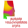 Alabama State Map Collection 2 by Andee Design