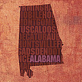 Alabama Word Art State Map On Canvas by Design Turnpike