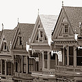 Alamo Square - Victorian Painted Ladies 2009 by Connie Fox