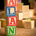Alan - Alphabet Blocks by Edward Fielding