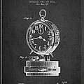 Alarm Clock Patent From 1911 - Dark by Aged Pixel