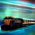 Alaska Aurora Train  # Da 080 by Dianne Roberson