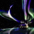 Alaska Aurora Unpredictable Spirals # Da 099  by Dianne Roberson