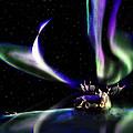 Alaska Aurora Unpredictable Spirals        by Dianne Roberson