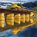Alaska Railroad Reflections by David Wagner