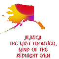 Alaska State Map Collection 2 by Andee Design