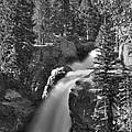 Alberta Falls In B-w by David Bearden