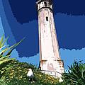 Alcatraz Lighthouse by Robert J Sadler