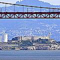 Alcatraz Through The Golden Gate by AJ  Schibig