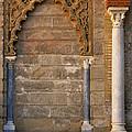 Alcazar Columns In Spain by Greg Matchick