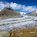 Aletsch Glacier Switzerland Swiss Alps by Matthias Hauser