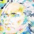Alexander Hamilton - Watercolor Portrait by Fabrizio Cassetta