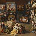 Alexander The Great Visiting The Studio Of Apelles by Willem van Haecht