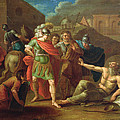 Alexander The Great Visits Diogenes At Corinth, 1787 Oil On Canvas by Ivan Philippovich Tupylev