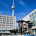Alexanderplatz View On Television Tower Berlin Germany by Michal Bednarek