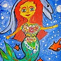 Alexandra's Mermaid Swims With The Dolphins by Marian Griffin