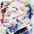 Alfred Hitchcock Watercolor Portrait.1 by Fabrizio Cassetta