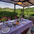 Alfresco Dining In Tuscany by Matt Swinden