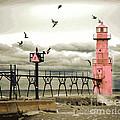 Algoma Pierhead Lighthouse by Wernher Krutein