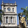 Aliiolani Hale And Kamehameha by Brandon Tabiolo