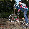 Alive And Kicking - Bmx Flatland Power Girl by Matthias Hauser
