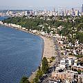 Alki Beach And Downtown Seattle by Bill Cobb