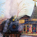 All Aboard At The New Hope Train Station by Loretta Luglio