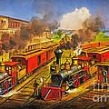 All Aboard The Lightning Express 1874 by Lianne Schneider