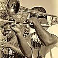 All That Jazz Sepia by Steve Harrington