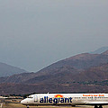 Allegiant At Palm Springs Airport by John Daly