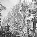 Allegorical Frontispiece Of Rome And Its History From Le Antichita Romane  by Giovanni Battista Piranesi