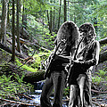 Allen And Steve On Mt. Spokane 2 by Ben Upham
