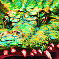 Alligator 20130702 by Wingsdomain Art and Photography