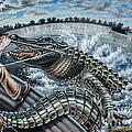 Alligator Hunt by Monica Turner