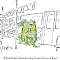 Alligators Riding The Subway by Sidney Harris