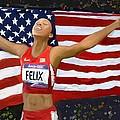 Allison Felix Olympian Gold Metalist by Vannetta Ferguson