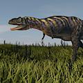 Alluring Aucasaurus In Grassland by Kostyantyn Ivanyshen