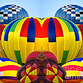 Almost Inflated Hot Air Balloons Mirror Image by Thomas Woolworth