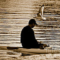 Alone In His Thoughts But Not Alone by Carol F Austin