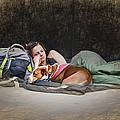 Alone With Her Dog by John Haldane