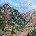 Along South Mineral Creek En Plein Air by Roena King