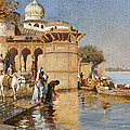 Along The Ghats Mathura by Edwin Lord Weeks